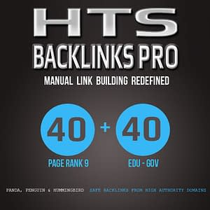HTS-Backlinks Pro 40 PR9 + 40 .EDU-.GOV Backlinks From Authority Domains