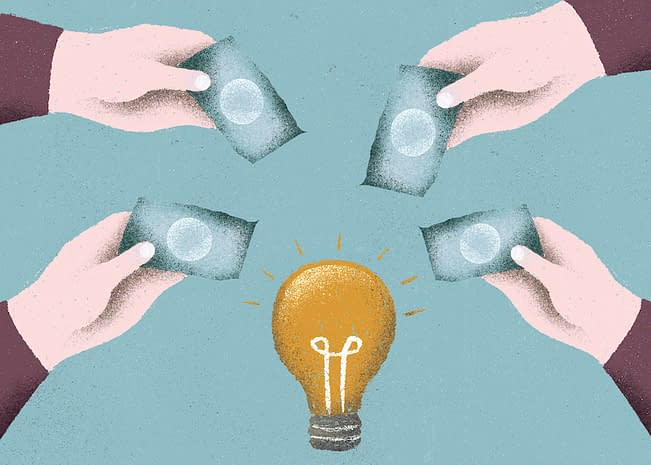 Crowdfunding Concept Investment into Idea or Business Startup