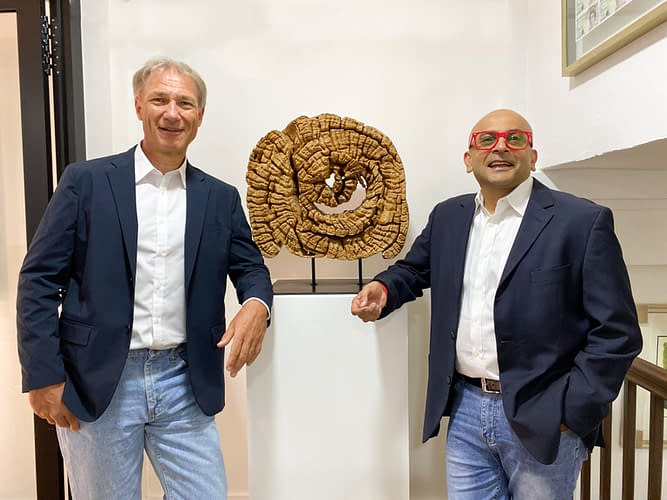 M Capital Management founding partners Joachim Ackermann (left) and Mayank Parekh (right)