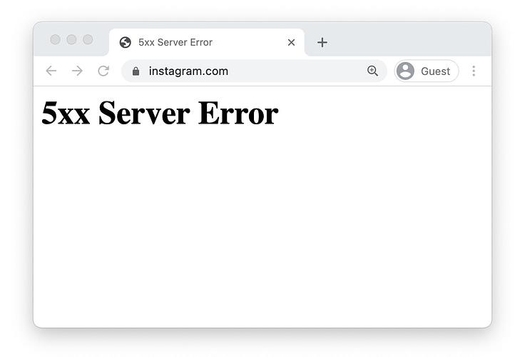 Instagram's error page