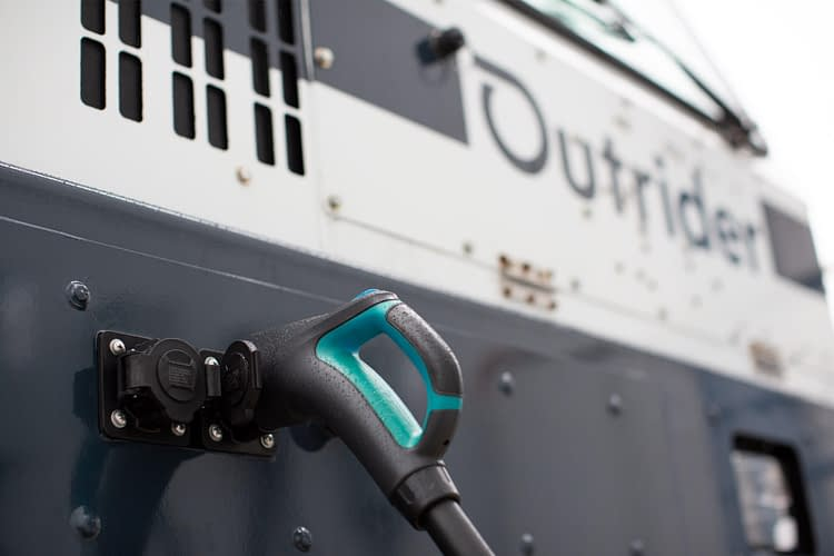 Outrider electric autonomous yard truck