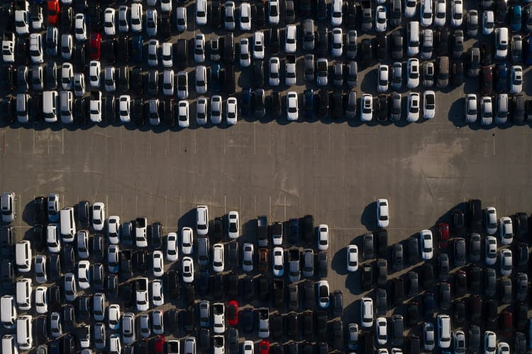 Rental Cars Stored At Dodger Stadium During Coronavirus Pandemic