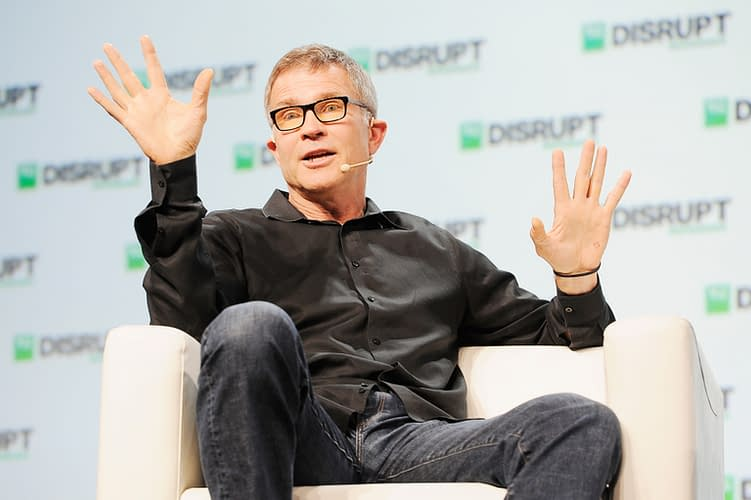 SAN FRANCISCO, CA - SEPTEMBER 05: Roblox Corporation Founder and CEO David Baszucki speaks onstage during Day 1 of TechCrunch Disrupt SF 2018 at Moscone Center on September 5, 2018 in San Francisco, California.