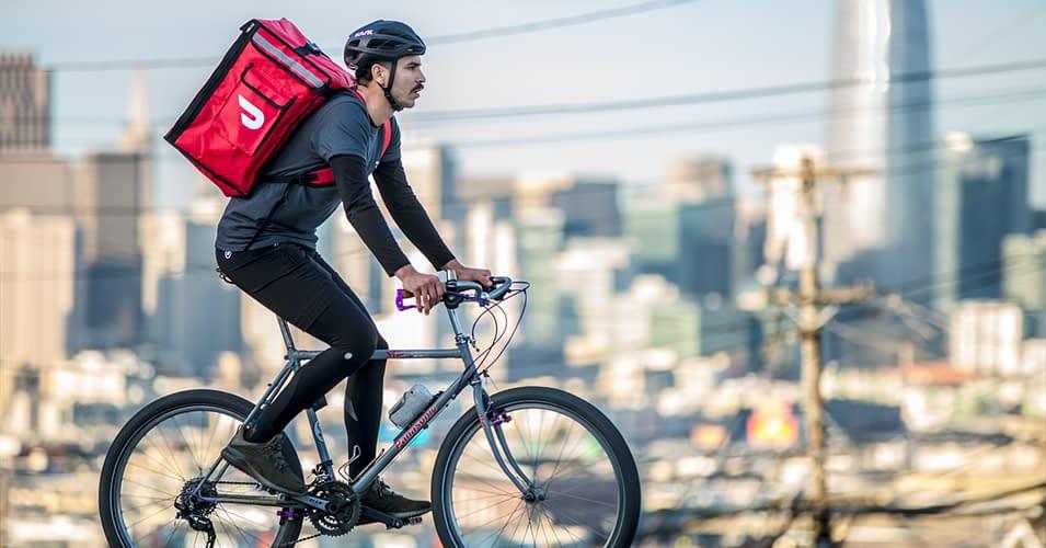 doordash dasher bicycle delivery person